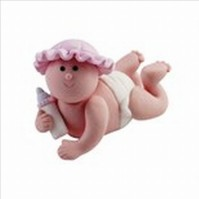 Cake Decorations - Crawling Baby Girls