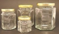 Hexagonal Jars with Lids