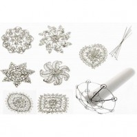 Small Round Brooch Bouquet Kit