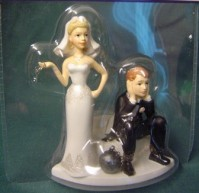 Cake Topper - Humerous - Groom with Ball and Chain