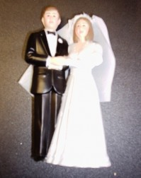 Cake Topper - Bride and Groom