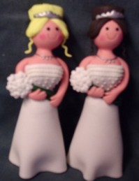 Cake Topper - Claydough Brides