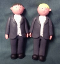 Cake Topper - Claydough Grooms