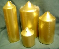 Chapel Candles - Gold