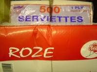 Serviettes 30 x 30cm 1Ply