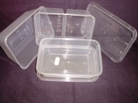 Clear Microwavable Containers with Lids