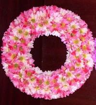 Daisy Wreath Pink 25cm