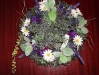 Lavender and Daisy Wreath 30cm