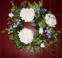 Rose and Forget-me-not Wreath 25cm