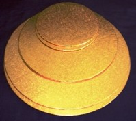 Double Thick Gold Cake Boards - Round
