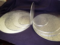 Double Thick Silver Cake Boards - Round