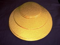 Single Thick Gold Cake Boards - Round