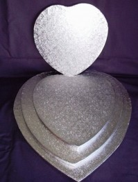 Cake Drums Heart Shaped - Silver