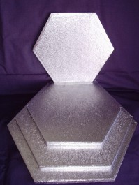 Cake Drums Hexagonal - Silver