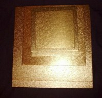 Single Thick Gold Cake Boards - Square