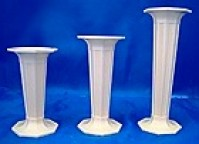 Octagonal Cake Pillars Plastic