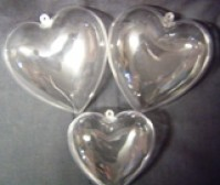 Plastic Decorative Hearts