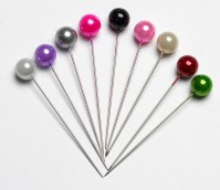 Round Headed Pearl Pins 6.5cm Pin with a 10mm Head