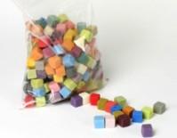 Rainbow Foam Harlequin Mini Cubes - 1 Ltr