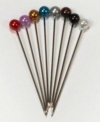 Round Headed Pearl Pins 4cm Pin with a 4mm Head