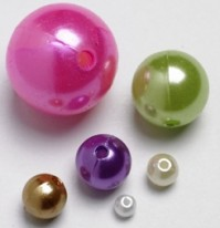 Beads White Ivory Gold Lilac and Mint