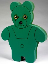 Foam Frame Standing Teddy Bear