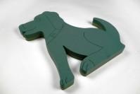 Foam Frame Sitting Dog