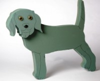 Foam Frame Raised Shape Standing Dog