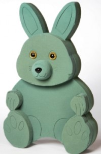 Foam Frame Raised Shape Sitting Rabbit