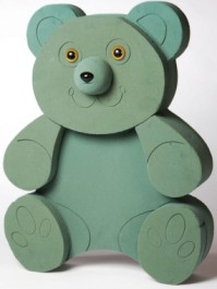 Foam Frame Raised Shape Sitting Bear