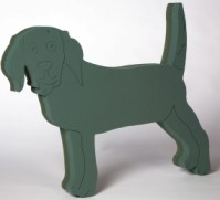 Foam Frame Standing Dog