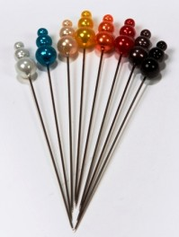 Hat Pins 9cm Pin with 18mm x 8mm Head