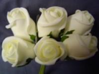 Foam Rose - Medium Bud - Cream