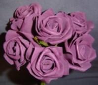 Foam Rose - Medium Bud - Aubergine