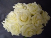 Foam Rose - Mini Bud - Cream