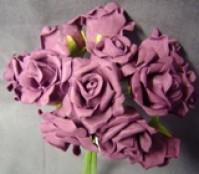 Foam Rose - Mini Bud - Aubergine
