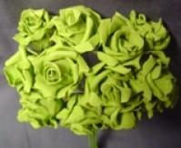 Foam Rose - Mini Bud - Dark Green