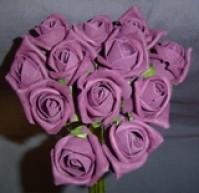 Foam Rose - Small Bud - Aubergine
