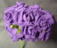 Foam Rose - Mini Bud - Cadbury Purple