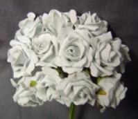 Foam Rose  - Mini Bud - Grey