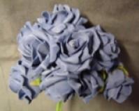 Foam Rose - Mini Bud - Blue