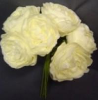 Foam Rose - Cabbage - Cream