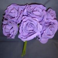 Foam Rose - Open Crinkle - Lilac