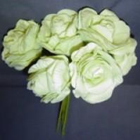 Foam Rose - Open Crinkle - Pale Green