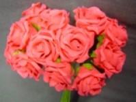 Foam Rose - Mini Bud - Cerise