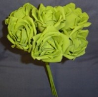 Foam Rose - Extra Large Bud - Green