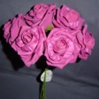 Foam Rose - Large Bud - Cerise