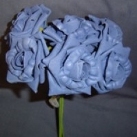 Foam Rose - Large Bud - Blue