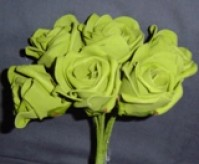 Foam Rose - Large Bud - Dark Green