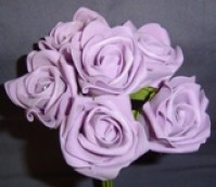 Foam Rose - Large Bud - Lavender